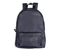 Tahari Men's Presence-Smooth Vegan Leather Backpack, Navy