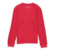 American Heritage Men's Textured Long Sleeve Basic T-Shirt, Red