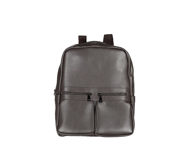 Men's Tahari Integrate Smooth Vegan Leather Backpack, Coffee
