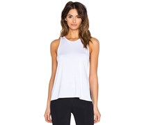 Body Language Slit Tank Top, White