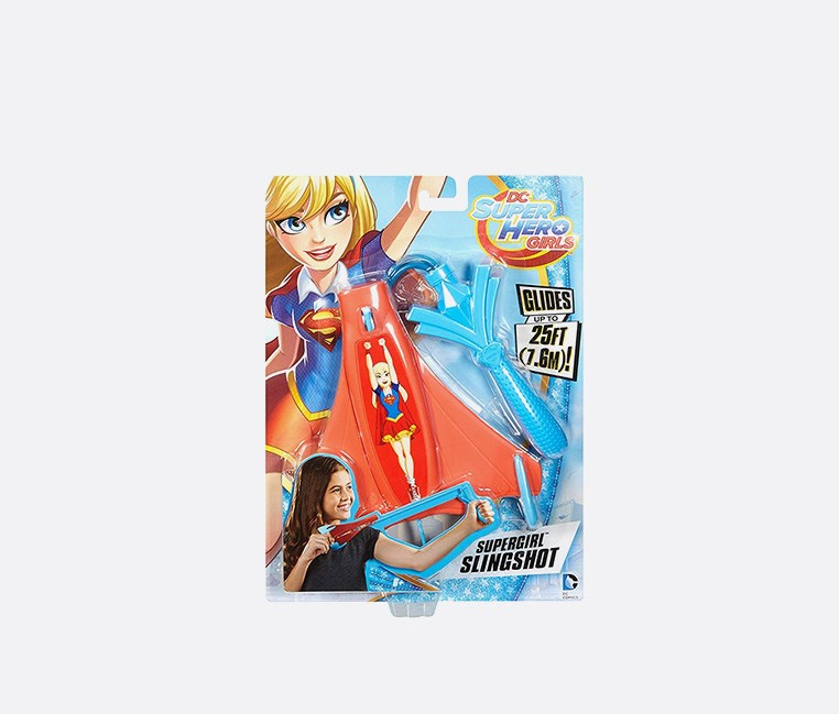 DC Super Hero Girls Slingshot Flying Supergirl Figure, Red