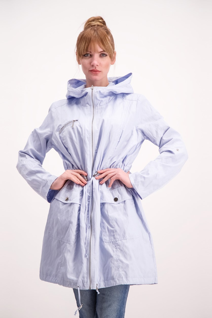 Women's Hooded Jacket, Light Blue