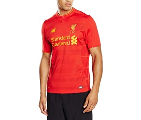 New Balance Men's Liverpool Home Soccer Jersey, Red