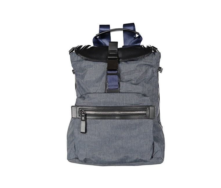 Zealous Nylon With Vegan Leather Trim Bag, Denim