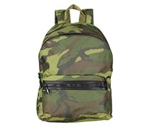 Men Resilience-Nylon with Vegan Leather Trim Bag, Green Camo