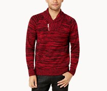 Inc International Concepts Men's Two-Tone Shawl-Collar Sweater, Jester Red