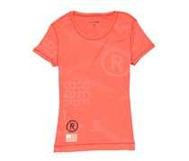Women RCF Burnout Short Sleeve Tee, Neon Cherry
