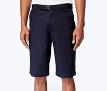 Men's Long Belted Shorts, Night Sky