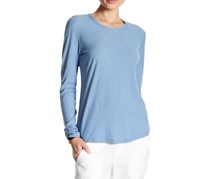 James Perse Long Sleeve Crew Neck Tee, Blue
