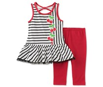 Kids Headquarters Girl's 2-Pc, White/Red