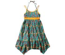 Bloome de jeune fille Girl's Dress, Green/Orange