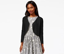 Maison Jules Three-Quarter-Sleeve Bolero Cardigan, Black