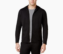 Alfani Men's Knit Essentials Stretch Travel Hoodie, Deep Black