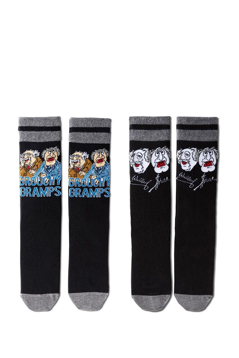 Men's Comic Socks, Black