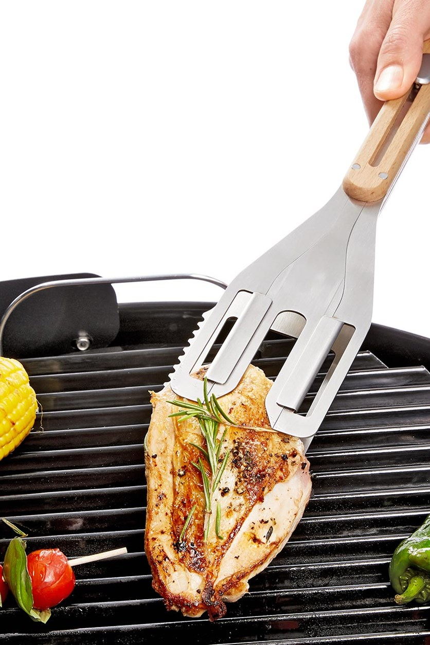 BBQ Multifunctional Tool, Natural/Silver Colored