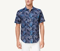 Tommy Bahama Men's Fez Fronds Printed Shirt, Navy Blue