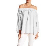 Whyte Eyelash Women's Off The Shoulder Top, White