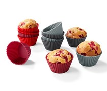 Forms for Muffins Set of 12, Red/Dark Red/Grey/Anthracite