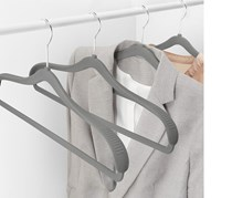 Clothes Hangers, Set of 4, Grey