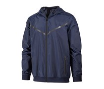 Ideology Mens Water-Resistant Hooded Jacket, Navy Blue
