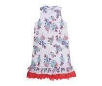 Guess Kid's Girl's Printed Lace Dress, White