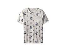Lucky Brand Boys' Short Sleeve Printed Tee Shirt, Oatmeal Heather