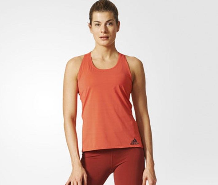 Training Clima Chill Sleeveless Tank Top, Orange Combo