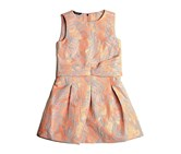 Guess by Marciano Girls Jacquard Dress, Bright Coral/Light Blue