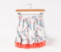 Guess Girls Printed Skirt, White Combo