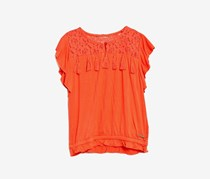 Guess Kids Girls Lace Top, Orange