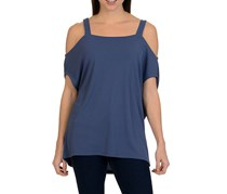 Larry Levine Cold Shoulder Top, Blind Blue Indigo