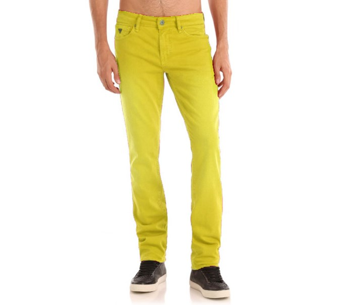 Men's Skinny Pants, Yellow