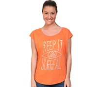 Women's Short Sleeve Pullover Top, Sea Coral