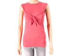 Guess Women's Tie Front Top, Pink