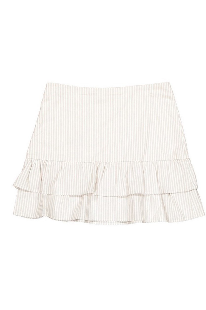Women's A Line Skirt, White/Grey