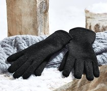 Women's Knitted Fleece Gloves, Anthracite