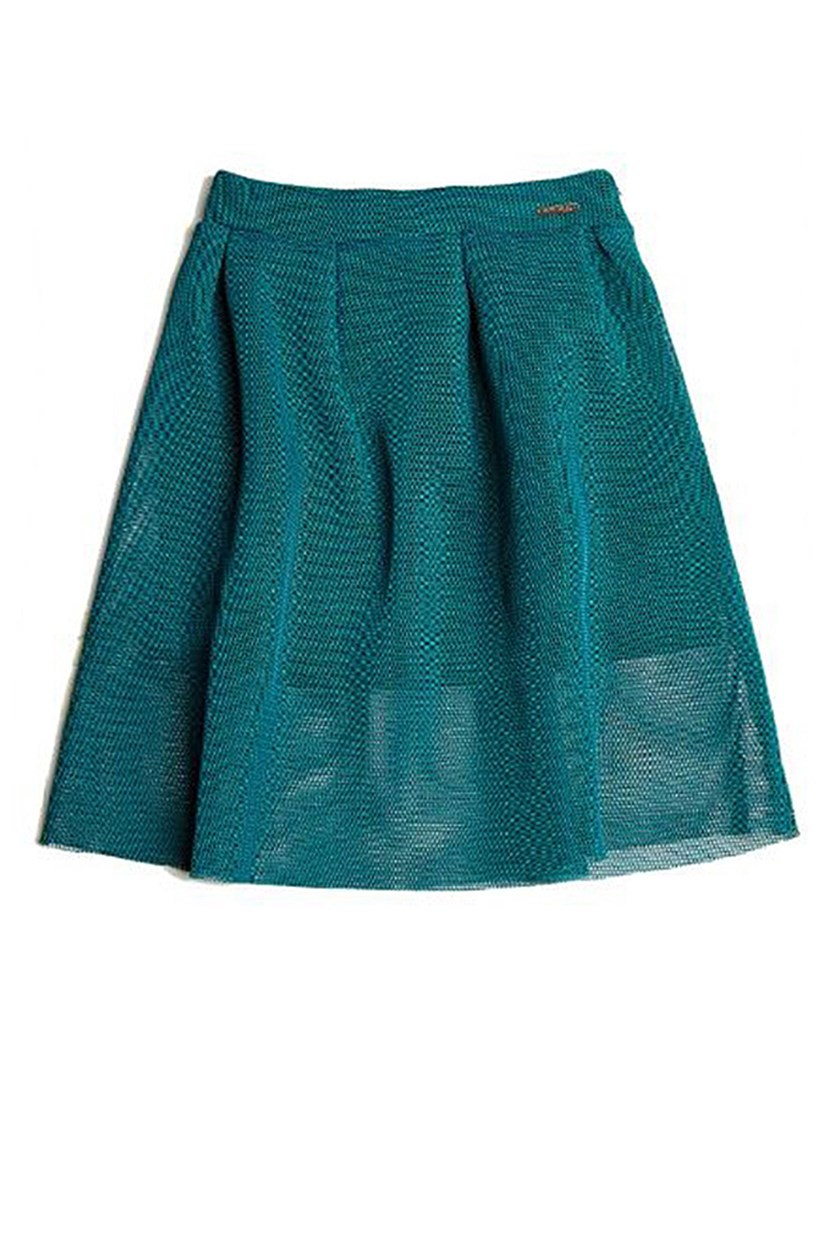 Kids Girls Petticoat Detail Skirt, Green