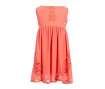Kids Girls Sleeveless Dress, Coral
