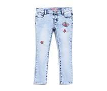Guess Toddlers Floral Print Pants, Blue