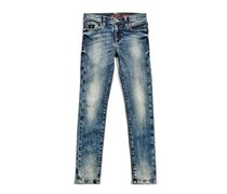 Guess Kids Girls Wash Denim Jeans, Blue Wash