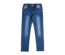 Guess Kids Girls Five Pocket Jeans, Blue