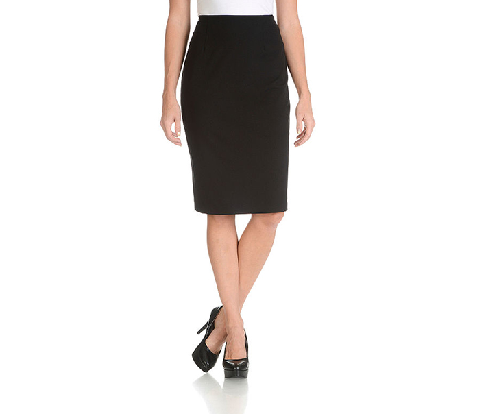 Larry Levine Women's Classic Pencil Skirt, Black