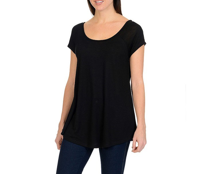 Cap Sleeve Top, Black