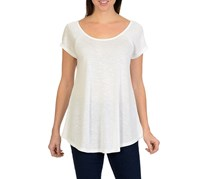 Larry Levine Cap Sleeve Top, Snow White