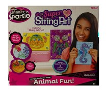 Cra-Z-Art Shimmer N Sparkle Super String Art Animal, White/Pink