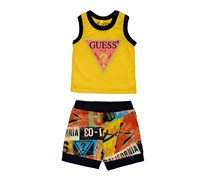 Guess Toddlers Graphic Print Set, Yellow Combo