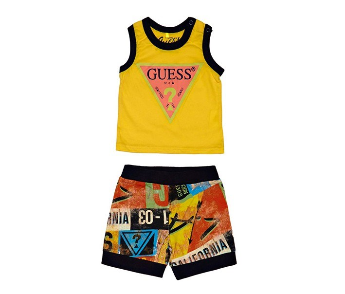 Toddlers Graphic Print Set, Yellow Combo