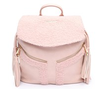 Rampage Shearling Backpack W/Tassels, Pink