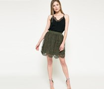 Guess Women's Lace Skirt, Olive