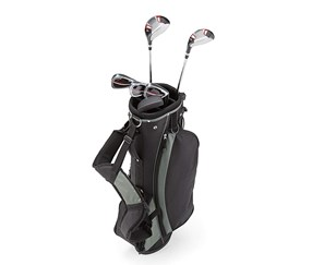 Men's Golf Set, Black/Red/Grey